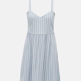 Svetlomodré pruhované šaty ONLY Sharon