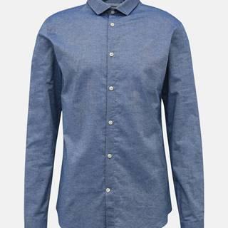 Modrá slim fit košeľa Lindbergh