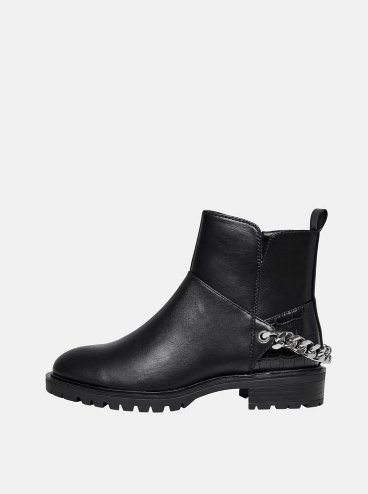 Only Čierne členkové topánky ONLY Tina
