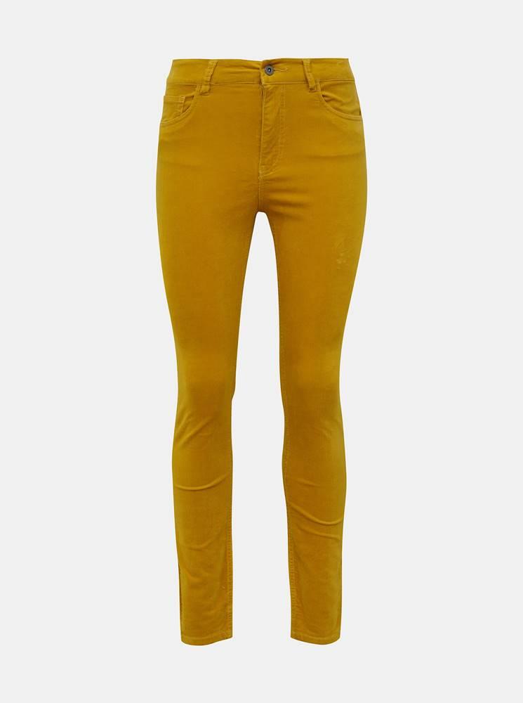 Jacqueline de Yong Horčicové menčestrové skinny fit nohavice Jacqueline de Yong Era