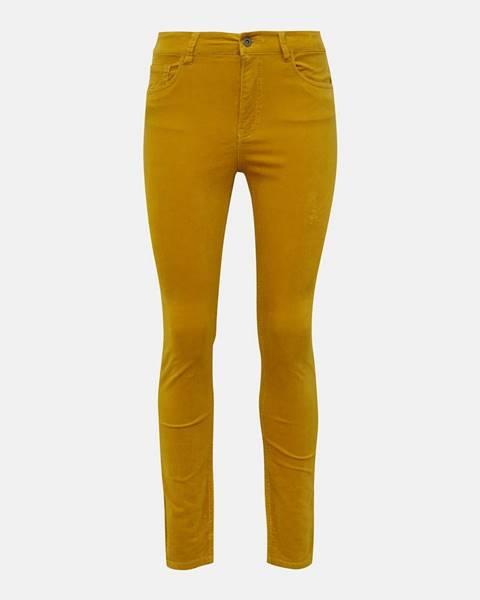 Horčicové nohavice Jacqueline de Yong