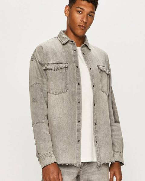 Sivá košeľa AllSaints
