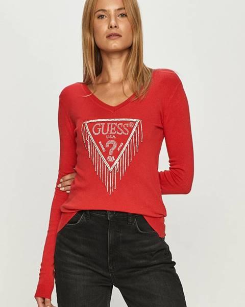 Červený sveter Guess Jeans