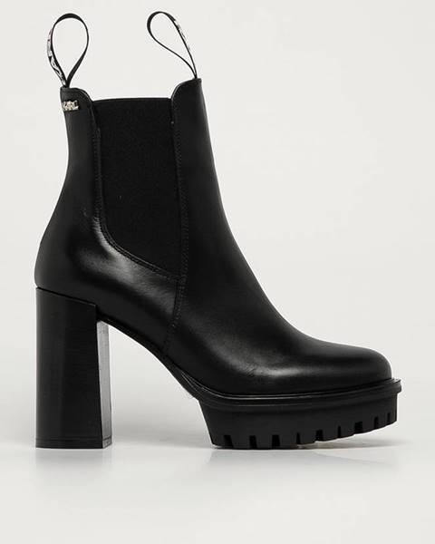 Čierne čižmy Karl Lagerfeld