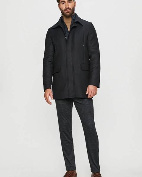 Tmavomodrý kabát Trussardi Jeans
