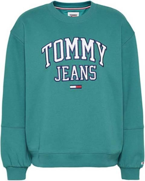 Zelená mikina Tommy Jeans