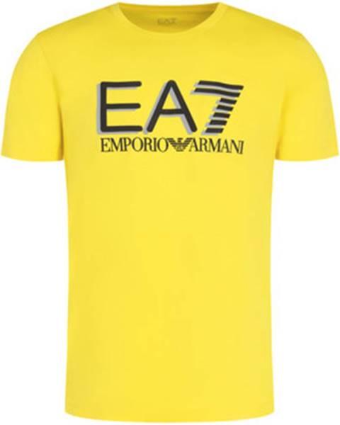 Žlté tričko Emporio Armani EA7