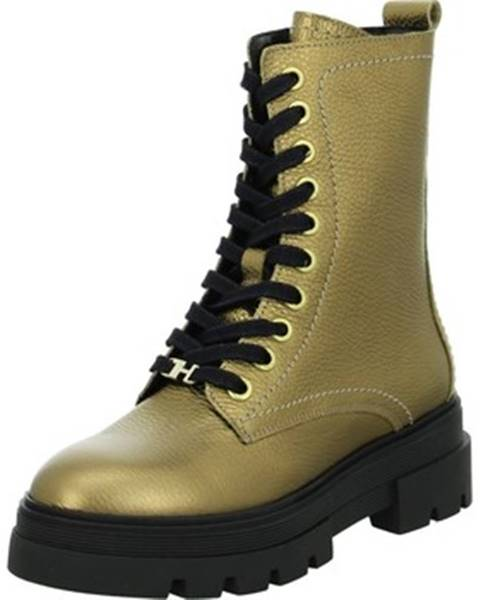 Zlaté topánky Tommy Hilfiger