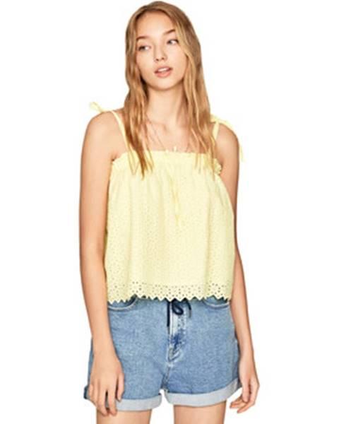Žltá blúzka Pepe jeans