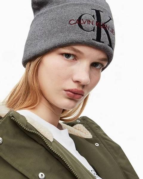 Sivá čiapka Calvin Klein