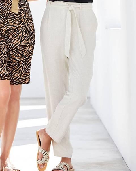 Krémové nohavice M&Co