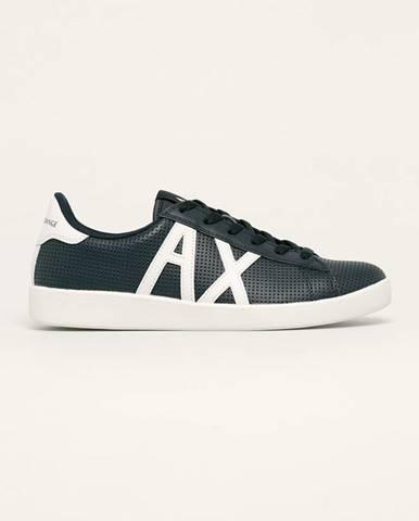 Tmavomodré topánky Armani Exchange