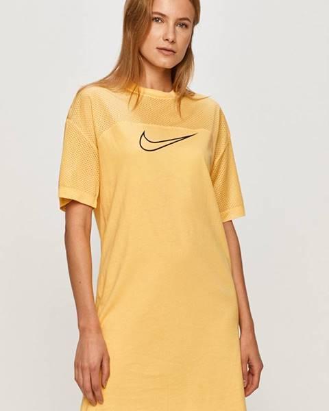 Žlté šaty Nike Sportswear