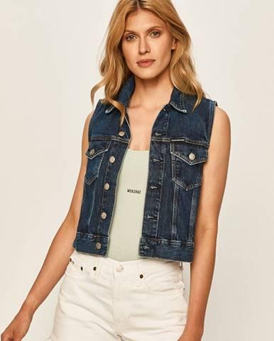 Tmavomodrá vesta Calvin Klein Jeans