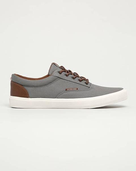 Sivé topánky Jack & Jones