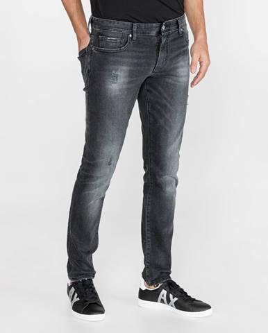 Sivé nohavice Armani Exchange