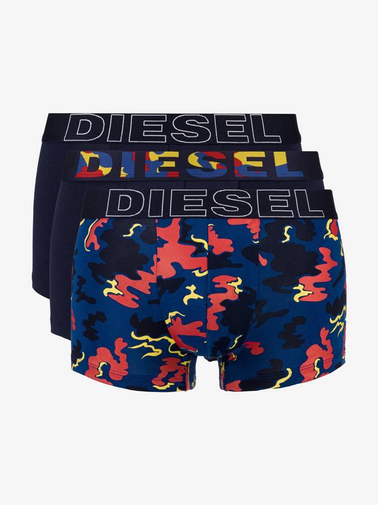 Diesel Boxerky 3 ks Diesel Modrá