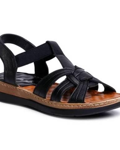 Čierne sandále Clara Barson