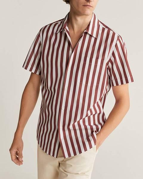Červená košeľa Mango Man