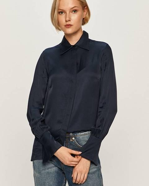 Tmavomodrá košeľa Trussardi Jeans