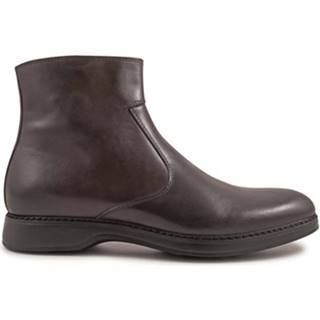 Polokozačky Leonardo Shoes  4846 VITELLO AC CIOCCOLATO I