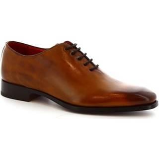 Derbie Leonardo Shoes  8728E19 VITELLO  DELAV? SIENA