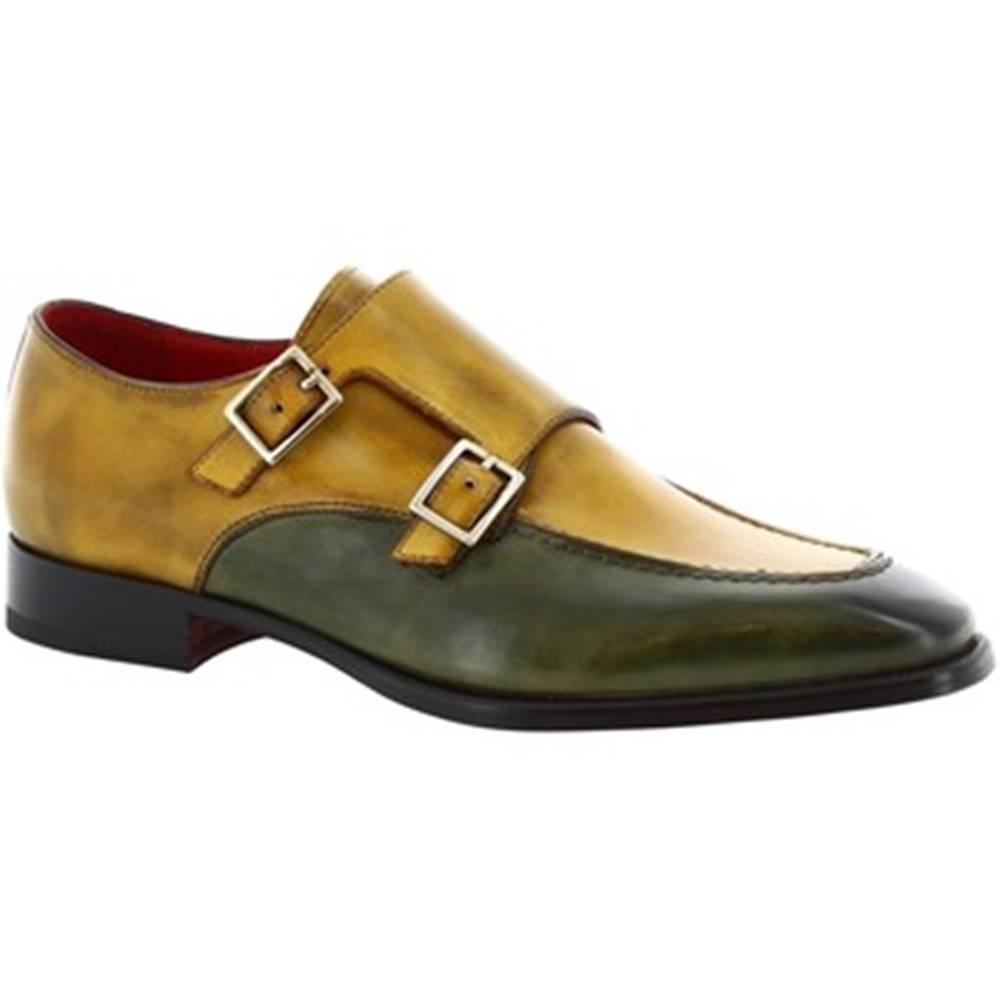Leonardo Shoes Derbie Leonardo Shoes  8742E19 TOM VITELLO DELAVE VERDE