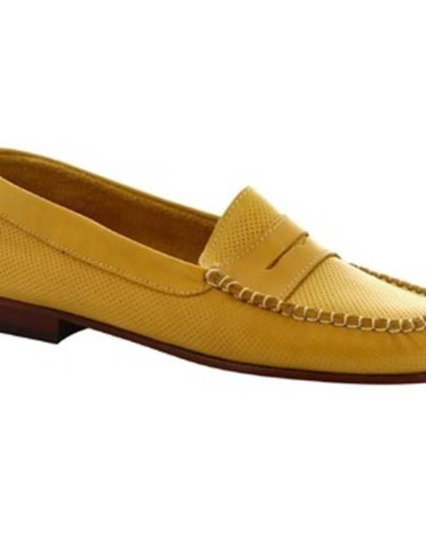 Žlté balerínky Leonardo Shoes