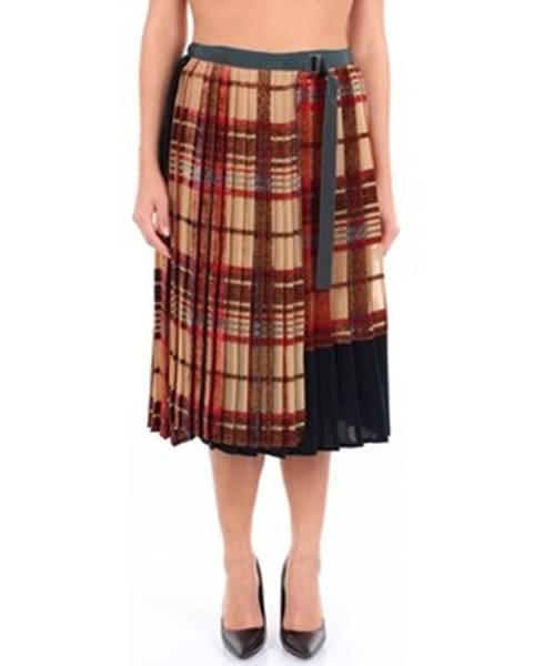 Viacfarebná sukňa Sacai
