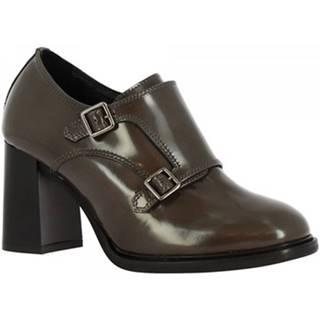 Mokasíny Leonardo Shoes  9806/1 ABRASIVATO LAVA