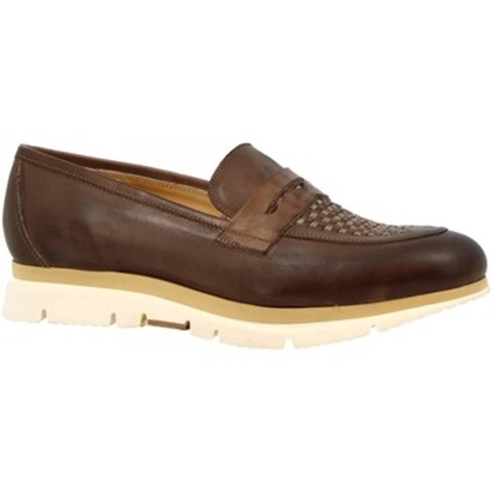 Leonardo Shoes Mokasíny Leonardo Shoes  440-69 VITELLO FANGO