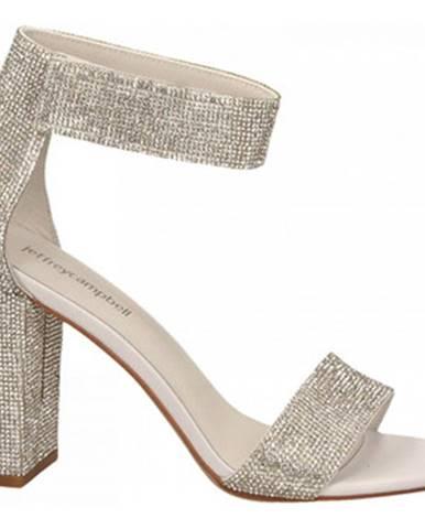 Strieborné sandále Jeffrey Campbell