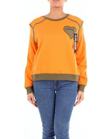 Oranžová mikina Love Moschino