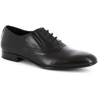 Richelieu Leonardo Shoes  145_3 PE AGNELLO NERO