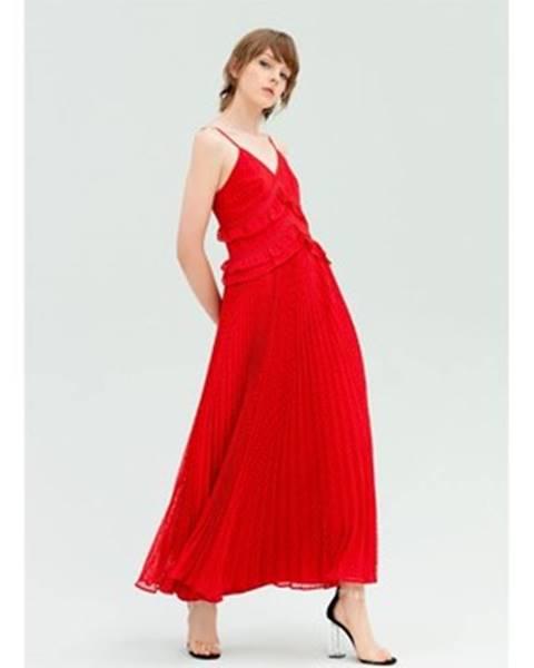 Červené maxišaty Fracomina