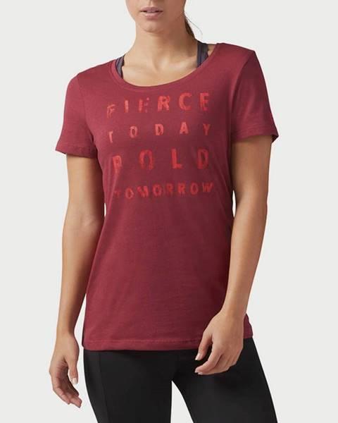Červené tričko Reebok