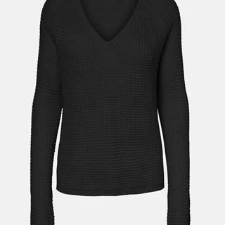 Čierny sveter VERO MODA Leanna