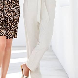 Krémové nohavice s prímesou ľanu M&Co