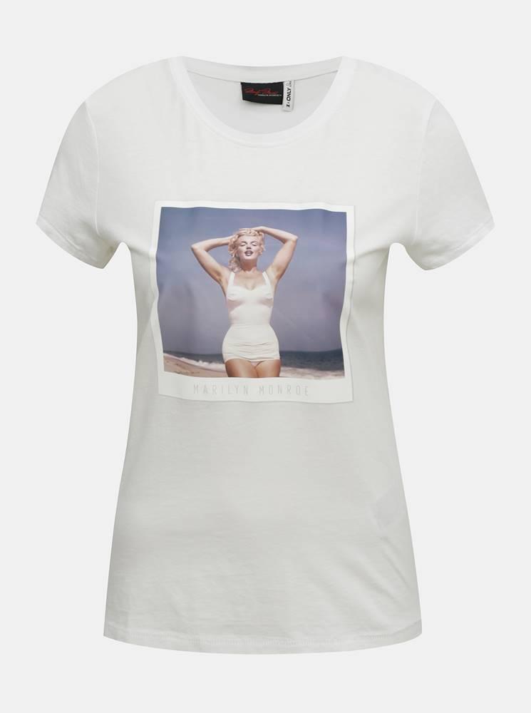 Only Biele tričko ONLY Marilyn Monroe