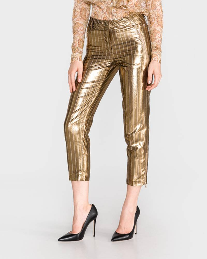 Twinset TWINSET Nohavice Zlatá