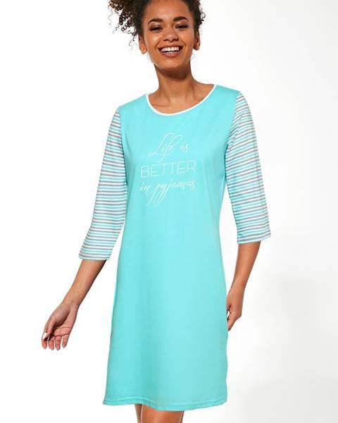 Modré bavlnené prádlo Cornette