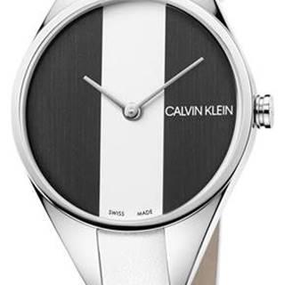 Calvin Klein Rebel Hodinky Biela Strieborná