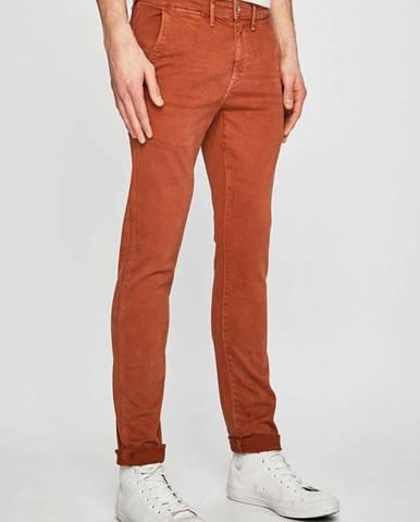 Oranžové rifle Pepe jeans