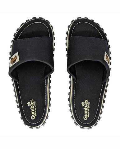 Čierne sandále Gumbies