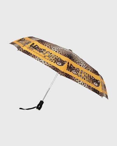 Hnedý dáždnik Moschino