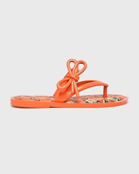 Oranžové sandále Melissa