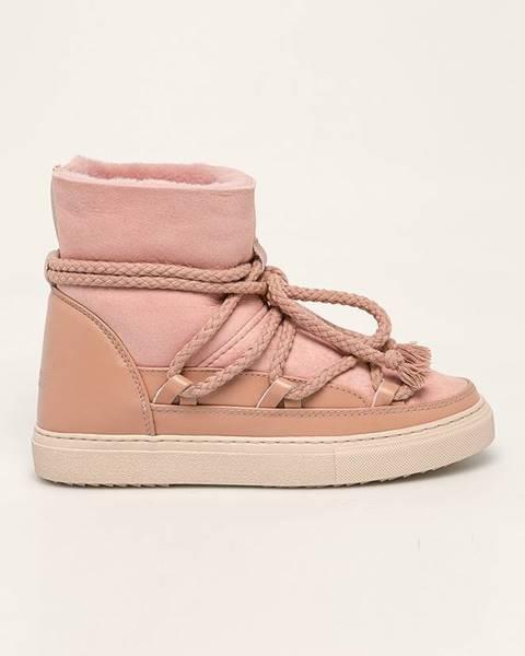Ružové zimná obuv Inuikii