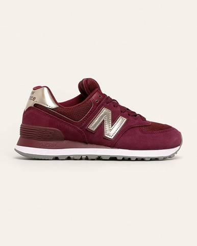 Burgundské topánky New Balance