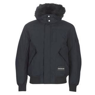 Parky Calvin Klein Jeans  FUR TRIMMED HOODED DOWN BOMBER