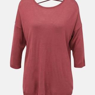 Rúžový ľahký sveter VERO MODA Raini